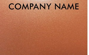 Copper Metallic Gift Cards