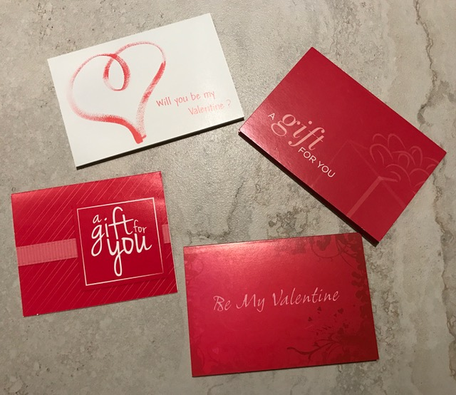 Love and Gift Cards are in the Air
